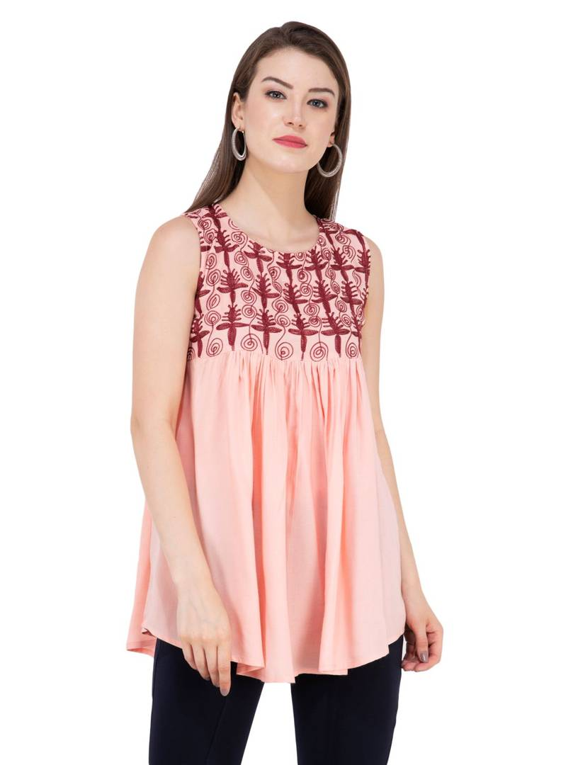 Pink Handmade Embroidered Premium Regular Length GlowRoad XS