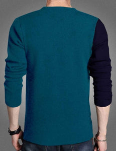 Men's Multicoloured Cotton Blend Printed Round Neck Tees GlowRoad