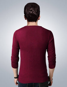 Men's Maroon Polycotton Printed Round Neck Tees GlowRoad