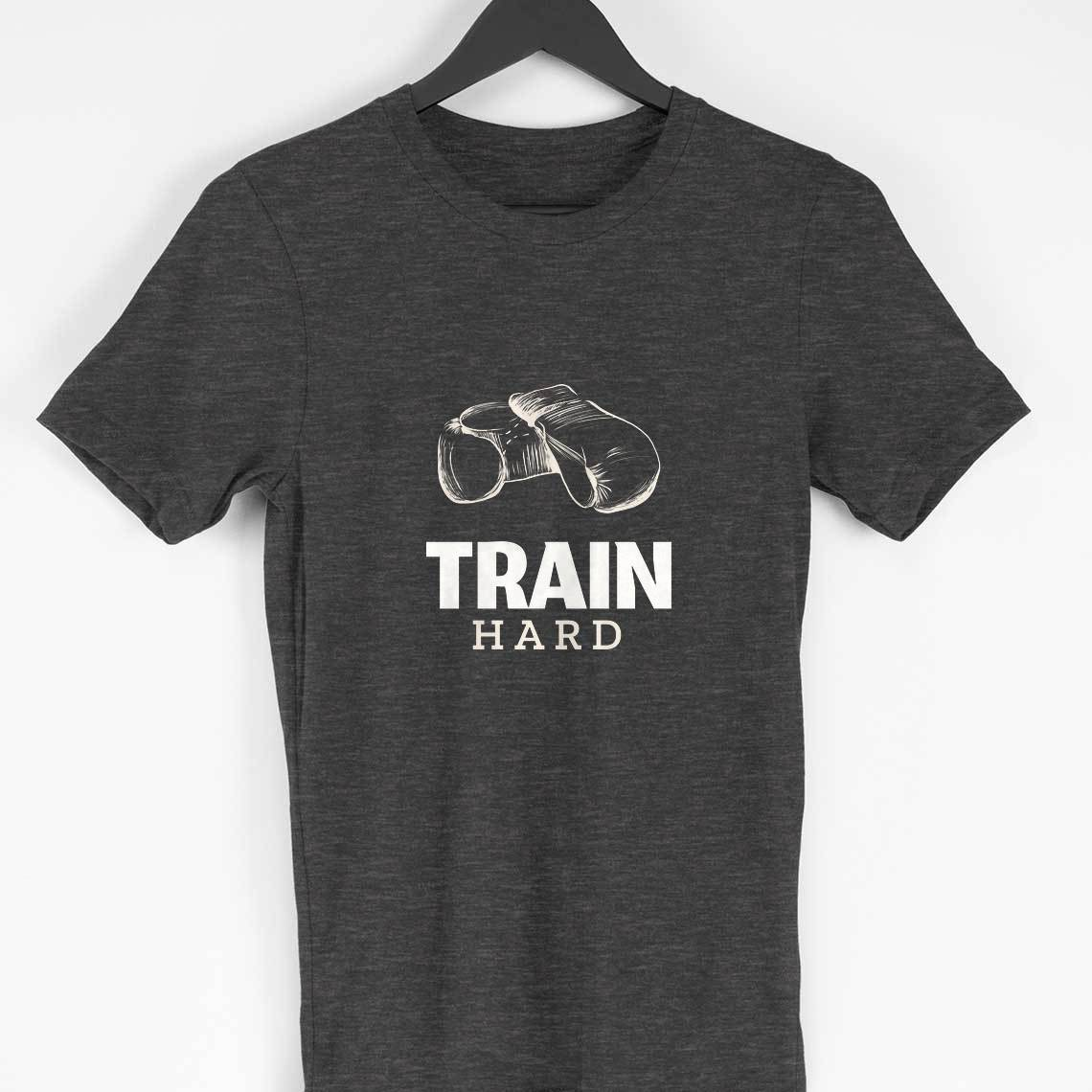 Train Hard Clothing Printrove Charcoal Grey S