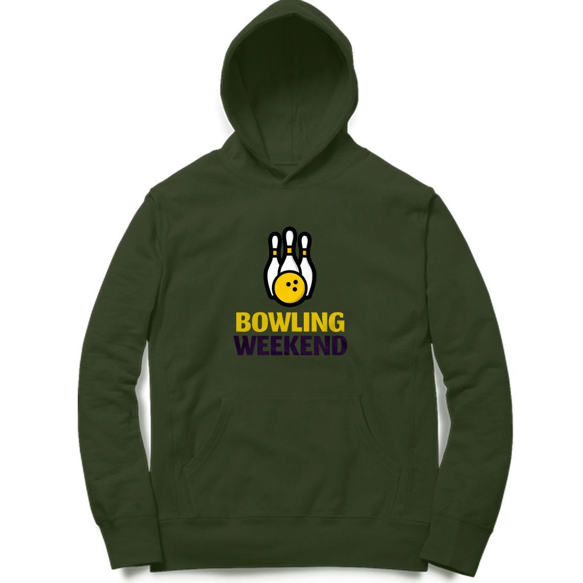 Bowling Weekend Clothing Printrove Olive Green S