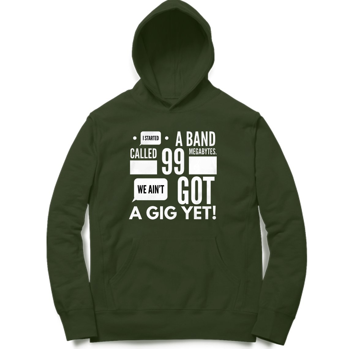 Aint got Gig Yet Clothing Printrove Olive Green S