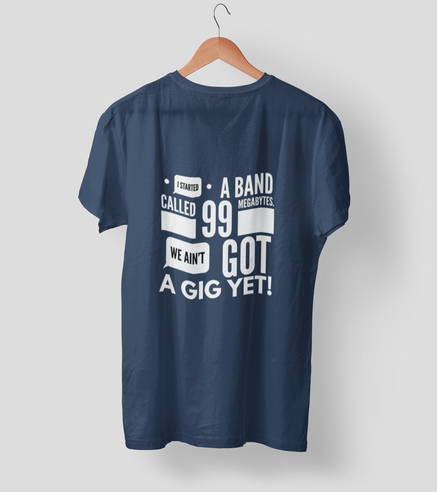 Aint got gig yet 2.0 Clothing Printrove Navy Blue S