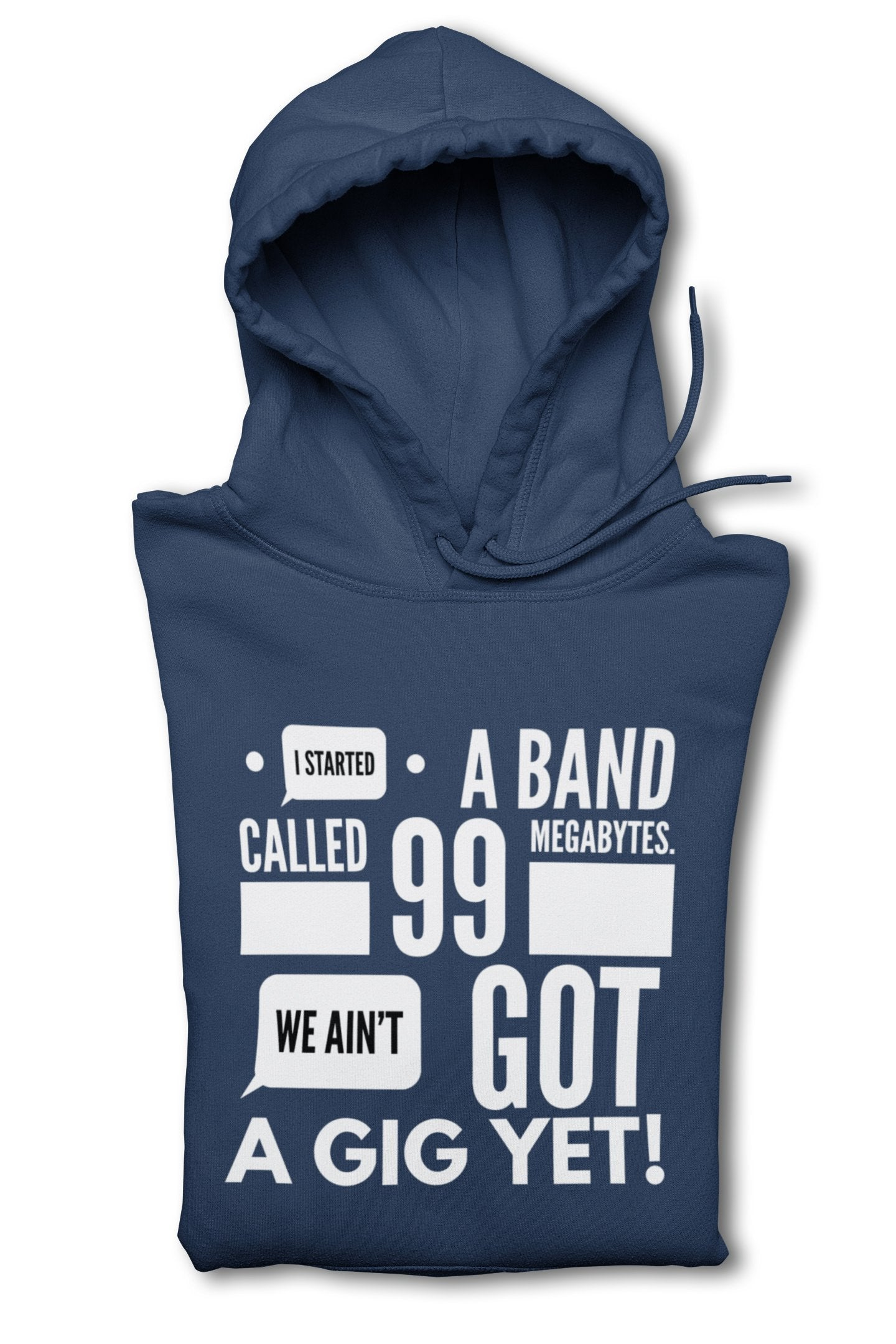 Aint got Gig Yet Clothing Printrove Navy Blue M