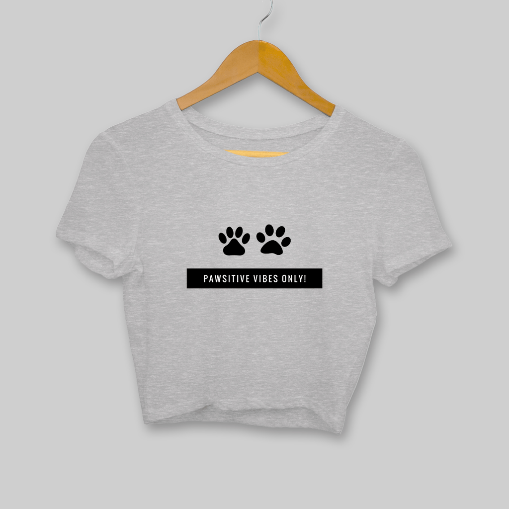 Pawsitive Vibes! Clothing Printrove Melange Grey S