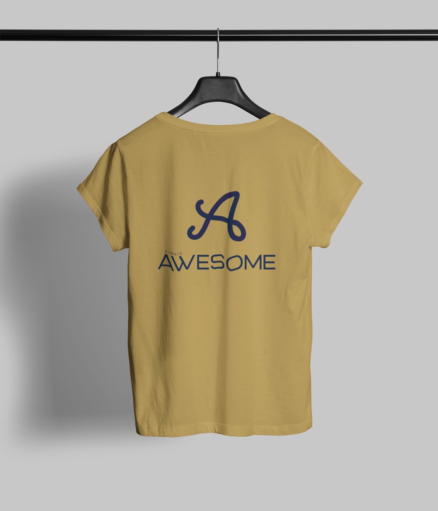 Always Awesome Clothing Printrove Mustard Yellow 1