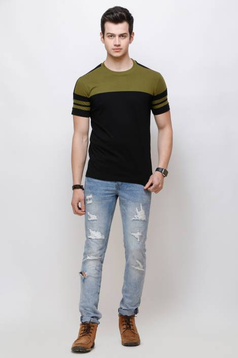 Olive Sleeks 1.0 Men's T-shirts Flipkart