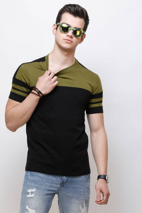 Olive Sleeks 1.0 Men's T-shirts Flipkart S