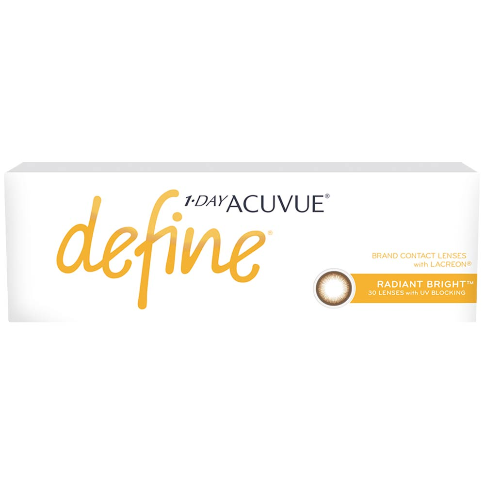Acuvue New Define Radiant Bright One-Day Color Lenses (30 lenses pack)