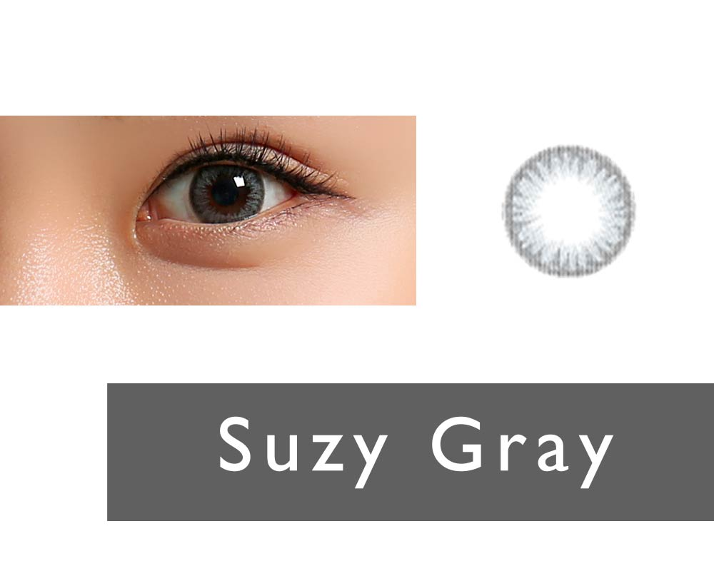 Clalen Iris One-day Color lenses Suzy Gray (30 lenses pack)
