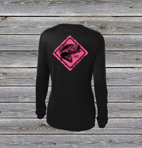 Bass Crossing Pink UPF Long Sleeve Shirt