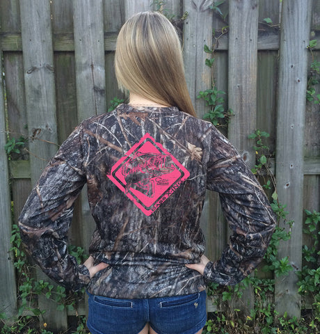 Bass Crossing Pink Camo UPF Long Sleeve Shirt