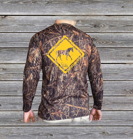 Horse Crossing Camo UPF Long Sleeve Shirt