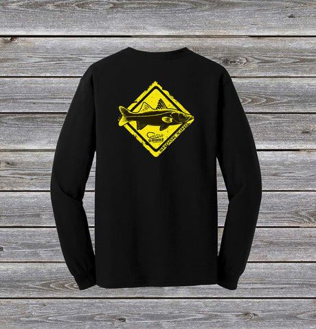 Snook Crossing Series Long Sleeve Tee with Pocket
