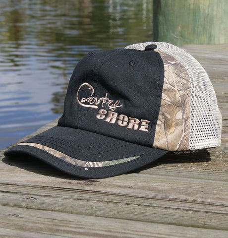 Garment Washed Camo Trucker Hat - Velcro Back Signature Series