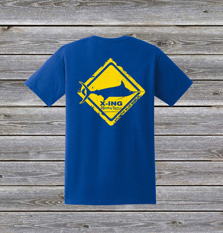 Atlantic Blue Marlin Crossing Series Short Sleeve Tee with Pocket