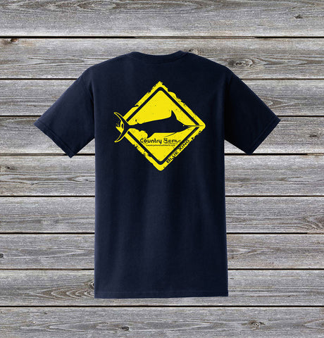 Blue Marlin Crossing Series Short Sleeve Tee