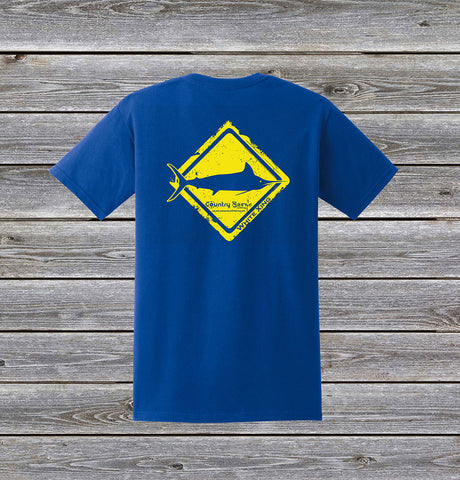 White Marlin Crossing Series Short Sleeve Tee with Pocket