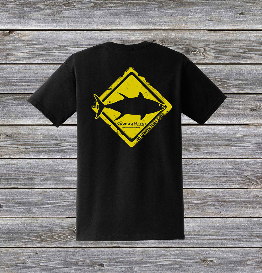 41937ab0 Yellowfin Tuna Crossing Series Short Sleeve Tee with Pocket ...
