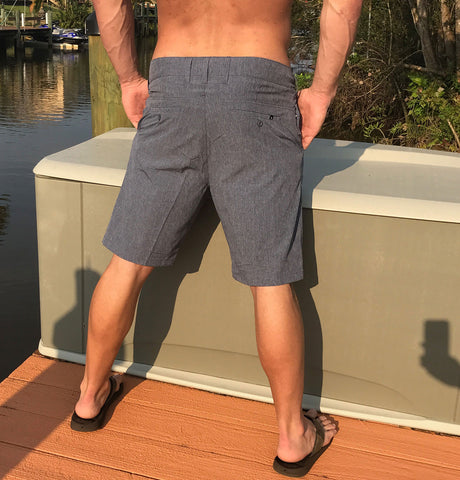 Hybrid Board/Walking Shorts - Heather Gray
