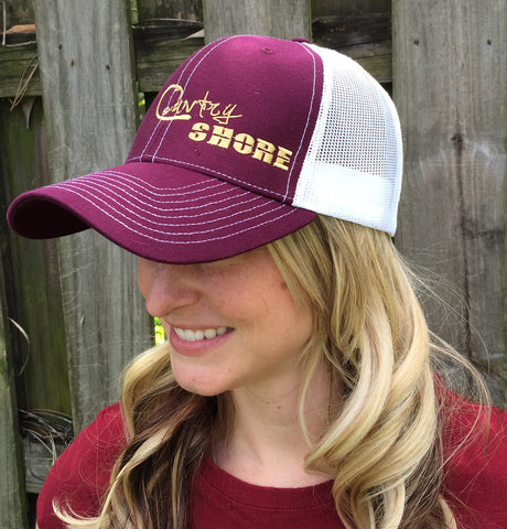 Signature Series Snapback Mesh Trucker Hat - Garnet and Gold
