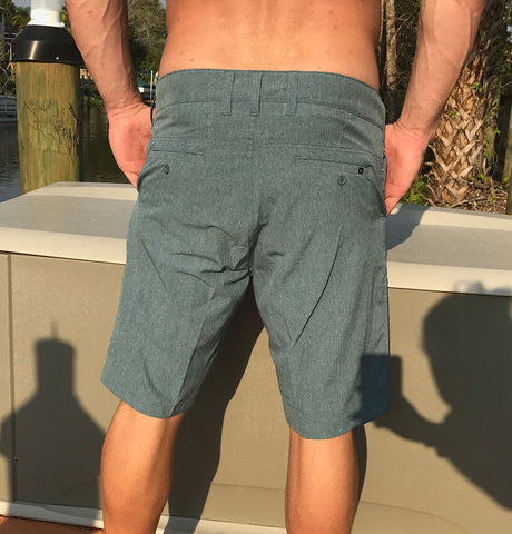 Hybrid Board/Walking Shorts - Heather Blue