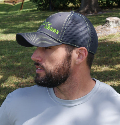 Trucker Stretch Hat - Gray and Green Signature Series