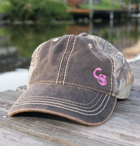 Velcro Back Camo Pink Hat