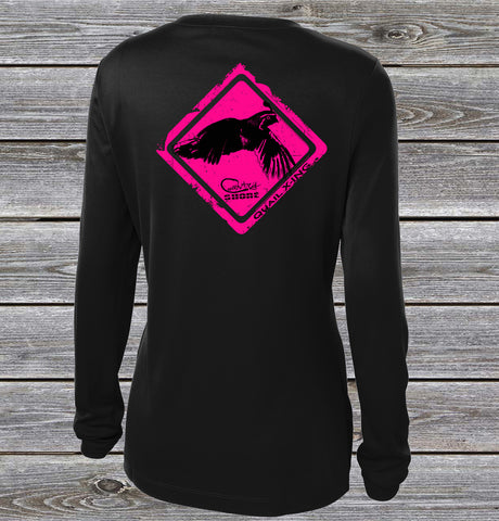 Quail Crossing Pink UPF Long Sleeve Shirt