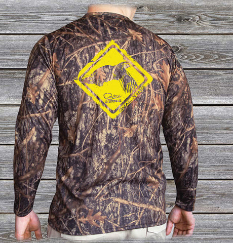 Quail Crossing Camo UPF Long Sleeve Shirt