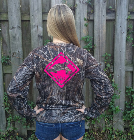 Quail Crossing Pink Camo UPF Long Sleeve Shirt