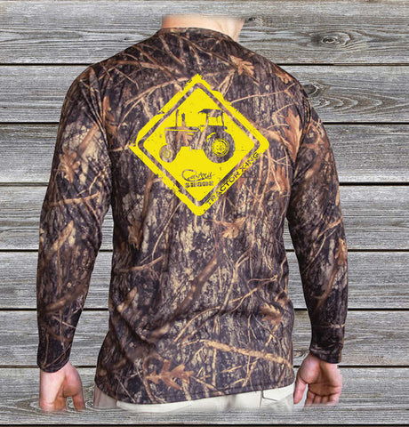 Tractor Crossing Camo UPF Long Sleeve Shirt
