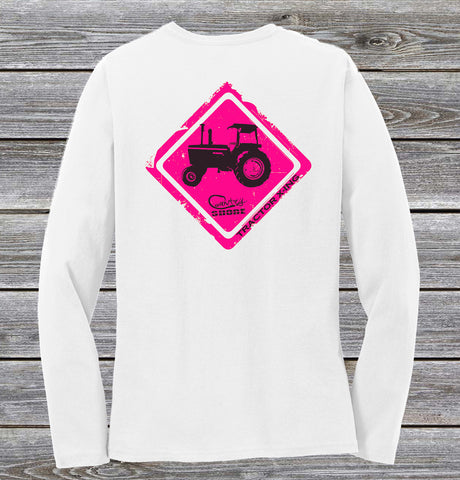 Tractor Crossing Series Ladies Long Sleeve Tee