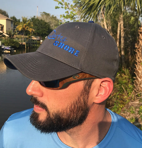 Graphite/Blue Stretch Fit Hat - Signature Series