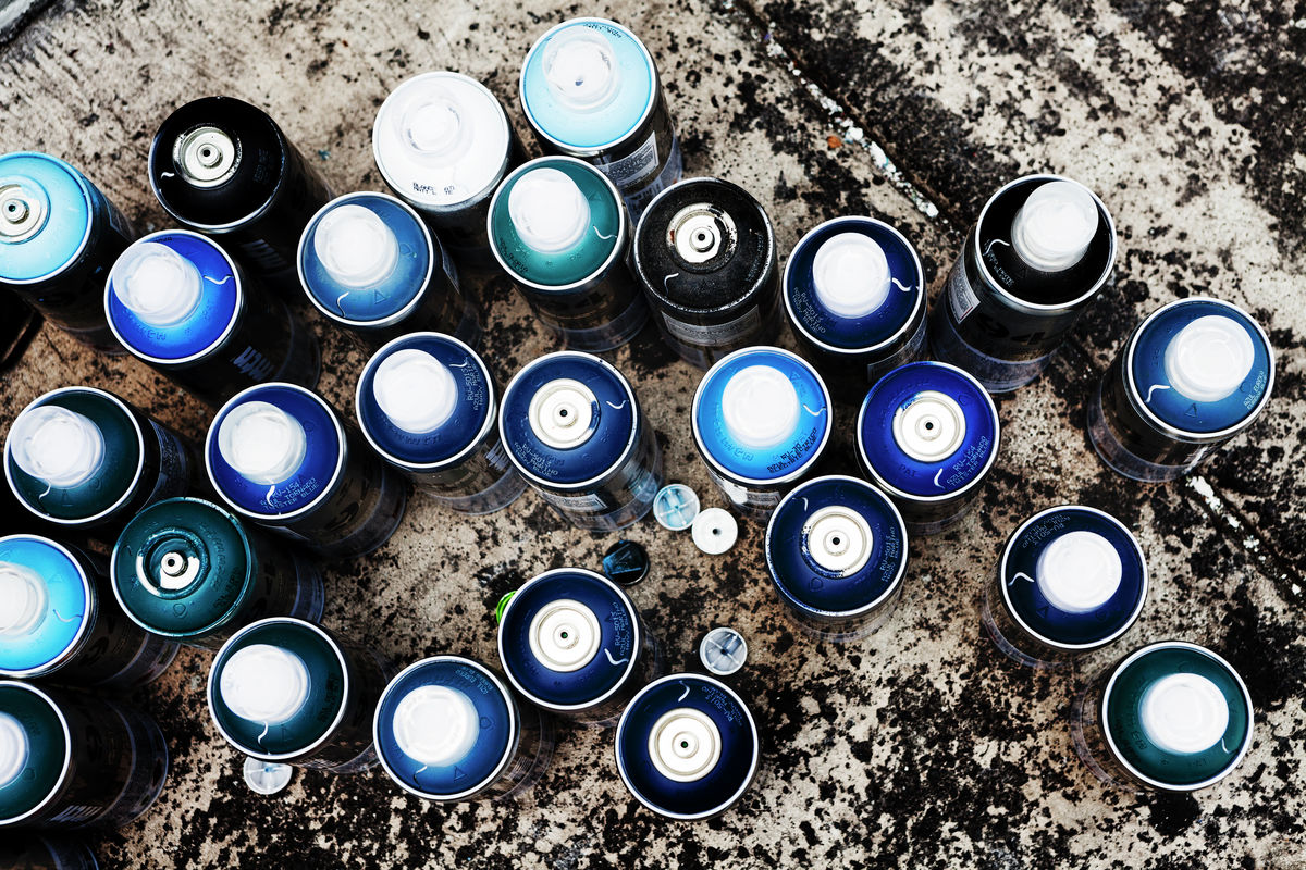 Paint Cans, Mexico City, 2013