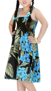 Floral Print Girl's Hawaiian Luau Tube Dress