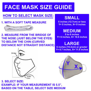 Premium Face Mask - Advanced Nanotech, Soft & Comfortable Facemask with Built-in Dual Filters