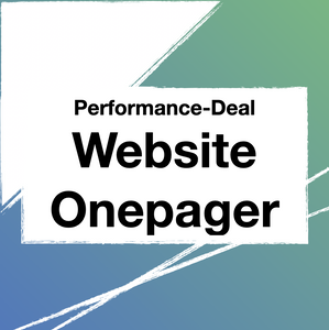 Performance Website | Onepager