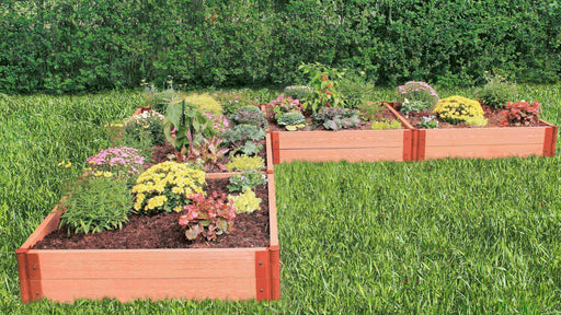 "12' x 12' - 2"" Profile: Classic Sienna 'L-Shaped' Raised Garden Bed (Original Screw-Type Design) Frame It All Classic Sienna 2"" Screw-Type Design 2"