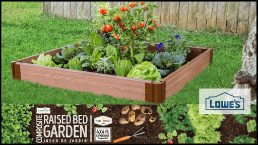 "4' x 4' x 5.5"" - 1"" Profile: Classic Sienna Raised Garden Bed (Original Screw-Type Design) Raised Garden Beds Frame It All"