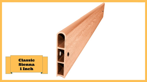 "Classic Sienna 4' Snap-Lock Ready 1"" Profile Straight Board Parts Frame It All Classic Sienna Straight 1 Inch Width x 4 Foot Length"