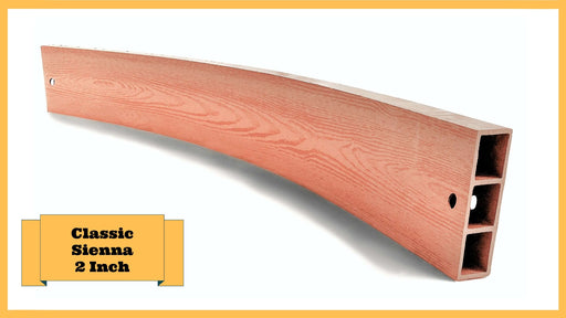 "Classic Sienna 4' Snap-Lock Ready 2"" Profile Composite Curved Board Parts Frame It All Classic Sienna Curved 2 Inch Width x 4 Foot Length"