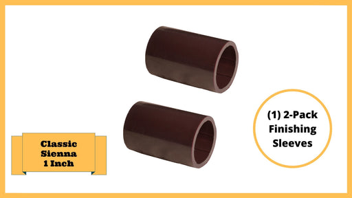 "Classic Sienna Tool-Free Snap-Lock Raised Garden Bed Finishing Sleeve – 1"" Replacement (2 pack-Brown) Parts Frame It All"