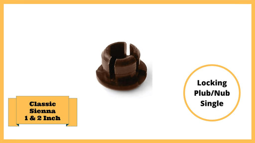 "Classic Sienna Tool-Free Snap-Lock Raised Garden Bed Locking Plugs/Nubs – 1""& 2"" Replacement (2 pack-Brown) Parts Frame It All"