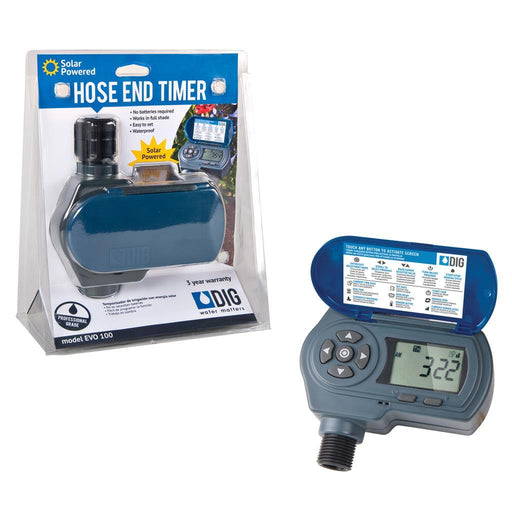 EVO 100 Waterproof Solar Powered Digital Hose End Timer (Tap Timer) for Drip Irrigation Accessories Frame It All