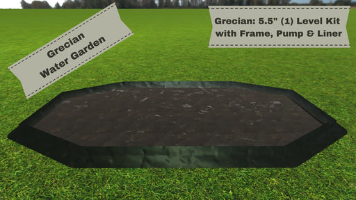"'Grecian' 8' x 15' Raised Bed Water Garden - ""You Dig"" - Pond Series Water Gardens Frame It All"