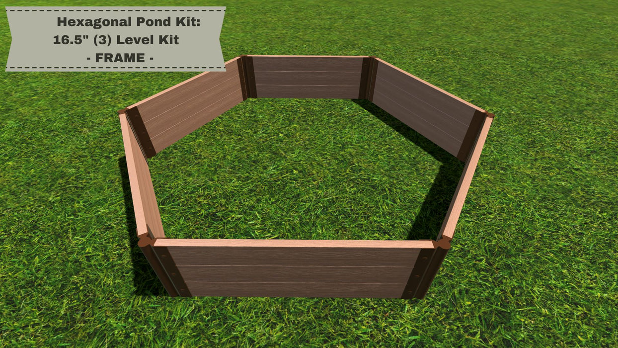 "Hexagonal Pond Kit - ""You Dig"" - Pond Series Water Gardens Frame It All"