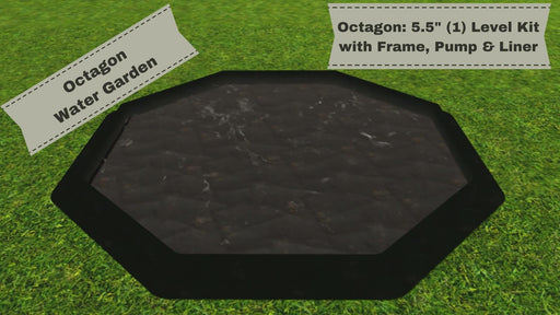 "'Octagon' 10' x 10' Raised Bed Water Garden - ""You Dig"" - Pond Series Water Gardens Frame It All"