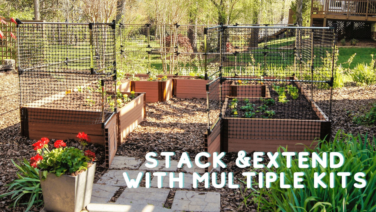 Stack & Extend 'Animal Barrier' with Gate - 4 Foot Wide Straight Panels Accessories Frame It All