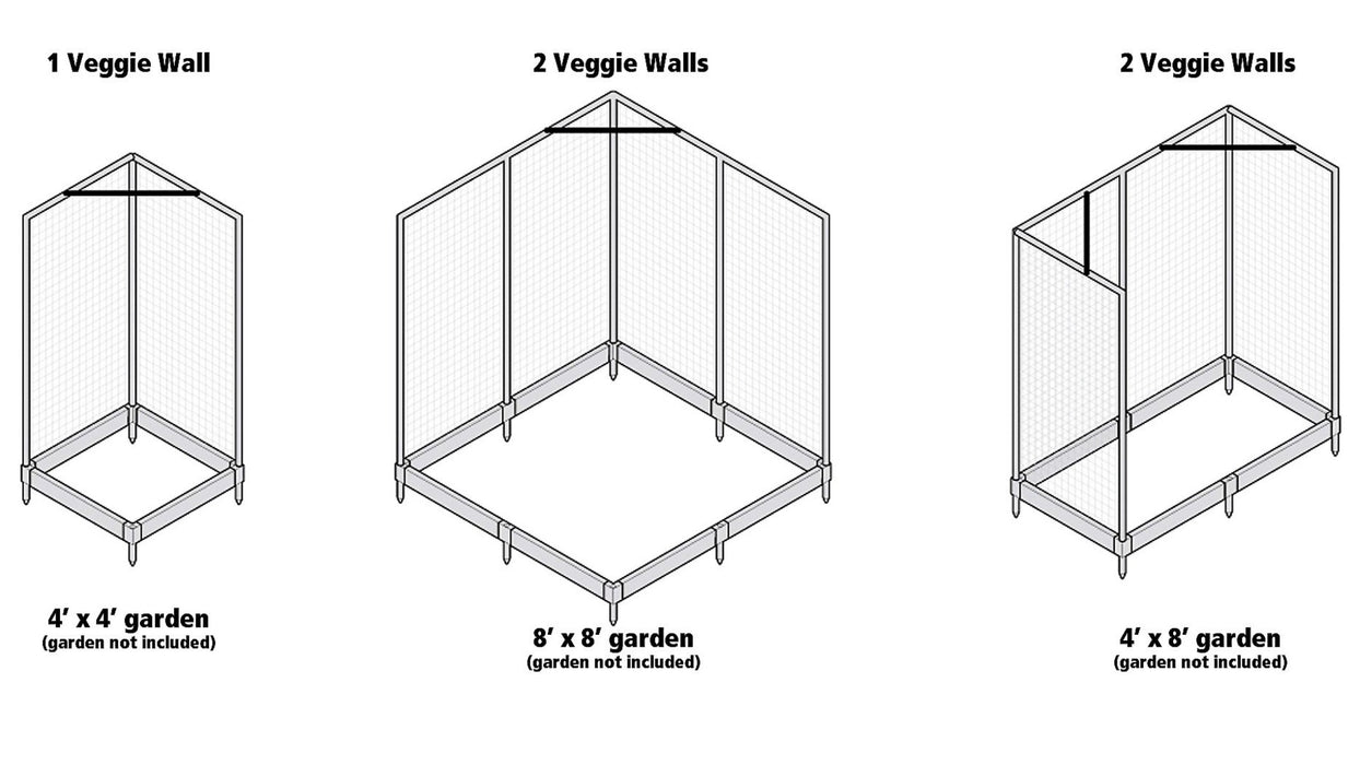 Stack & Extend 'Veggie Wall' - 4 Foot Wide Straight Panels Accessories Frame It All